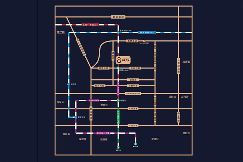 万象连城交通图