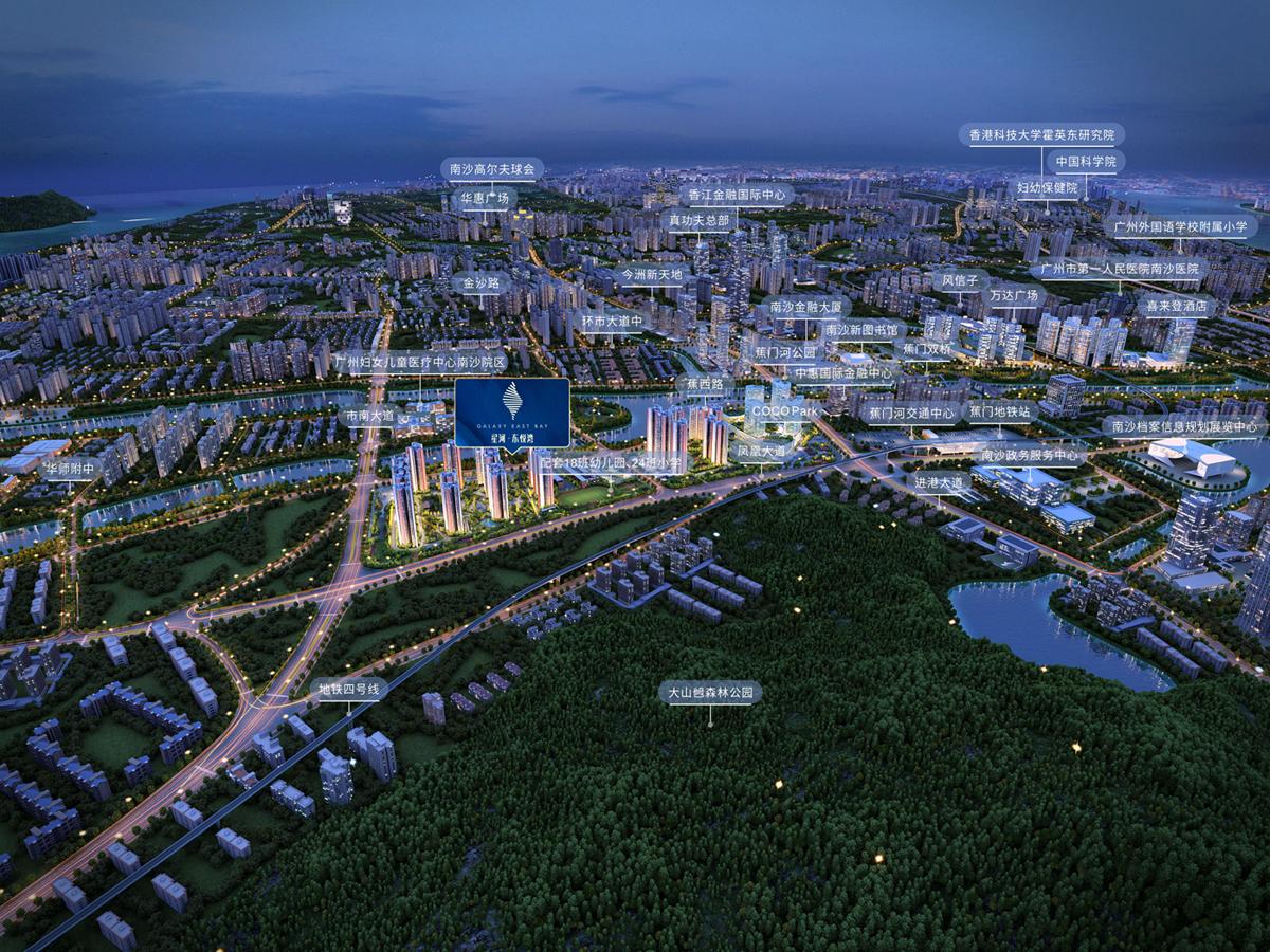星河·东悦湾规划图