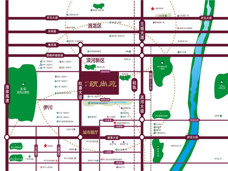 中成颐尚苑交通图