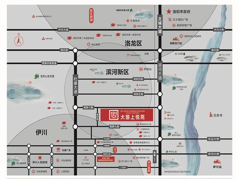 大曌上悦苑交通图