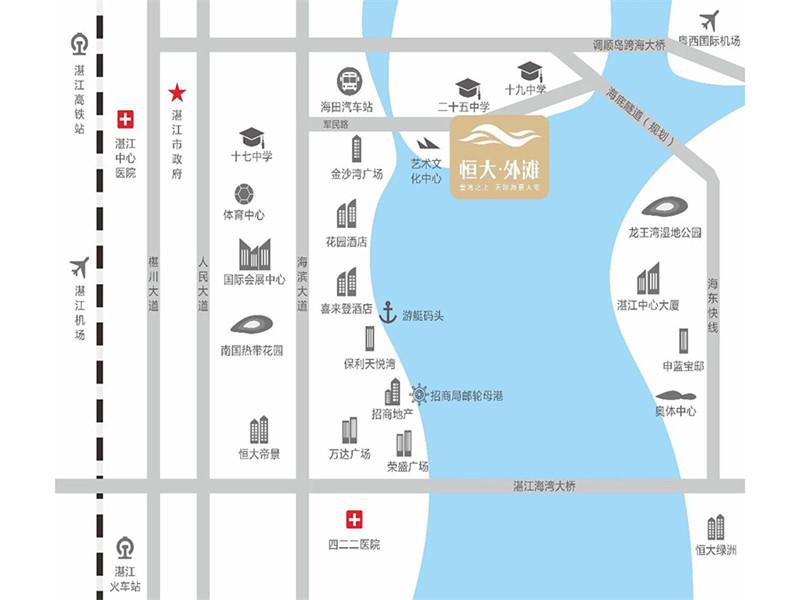 恒大外滩在售7号楼建面约267㎡六房两厅四卫单位