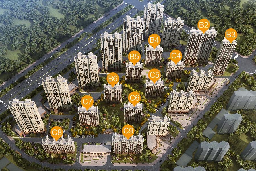 慧谷新城项目鸟瞰图