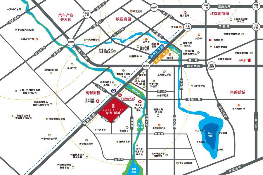 慧谷新城项目区域图