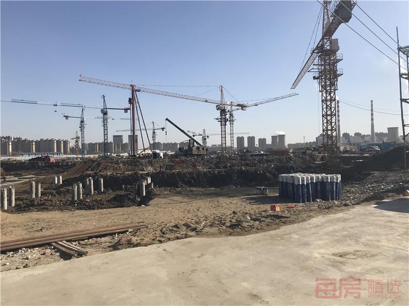 青阳华府项目工地实景图
