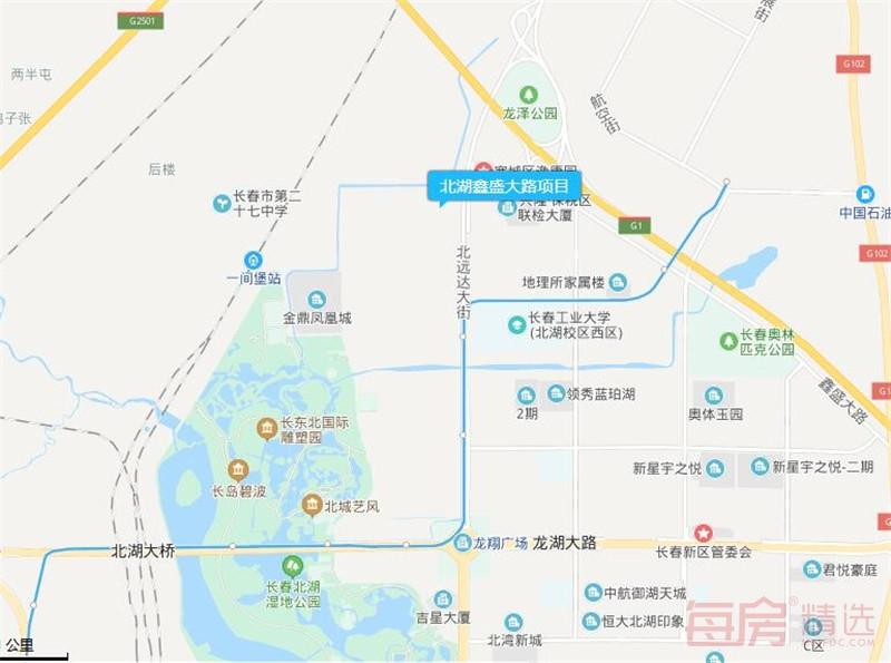 北湖鑫盛大路项目交通图