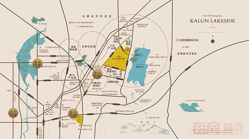 复地卡伦湖生态城交通图