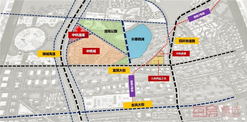 中铁逸境规划图