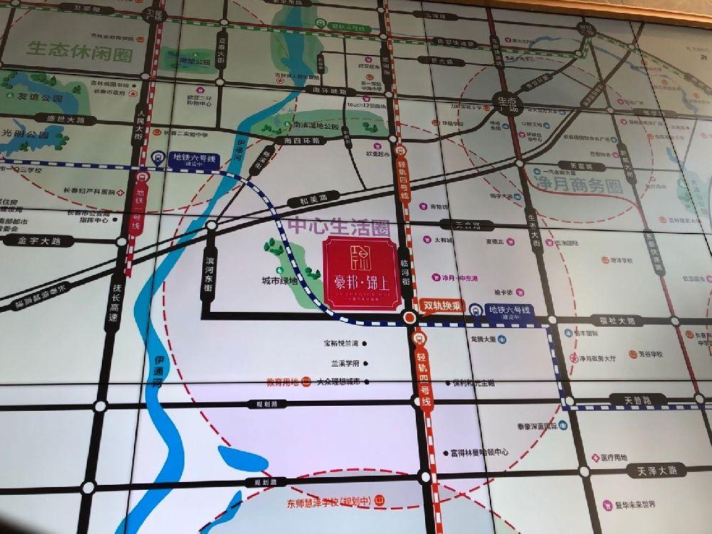 豪邦锦上交通图
