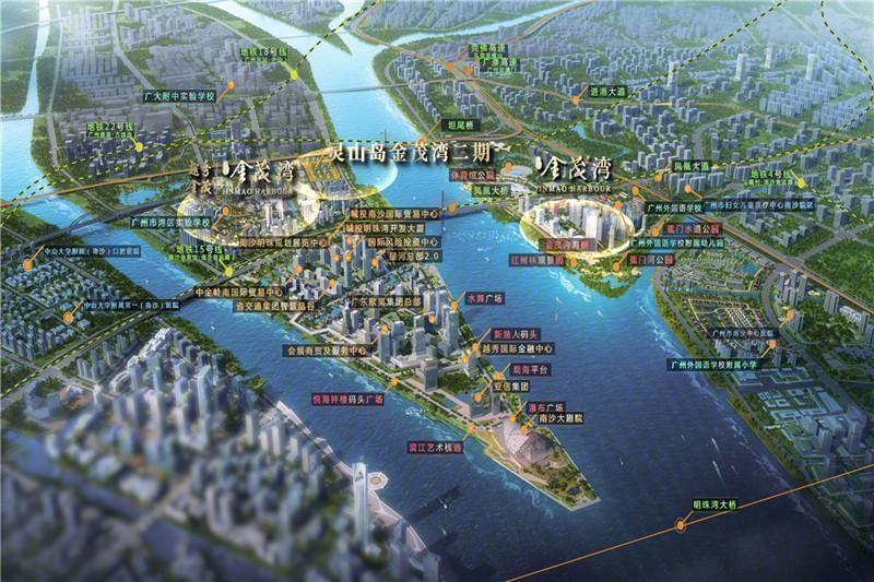 灵山岛金茂湾交通图